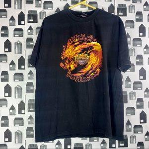 Harley Davidson | Men's 2000 Black Graphic T-shirt